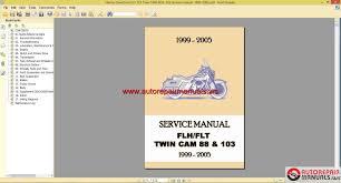 harley davidson flh flt twin cam 88 u0026 103 service manual 1999