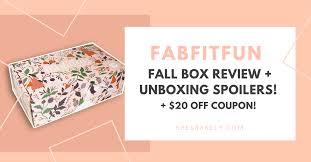 fabfitfun review fall box 2017 unboxing spoilers plus 20