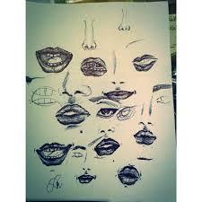 random trials lips sketch schenryj trial my works