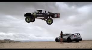 baldwin monster energy trophy truck jump video
