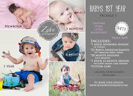 baby s 1st year package zehn photography