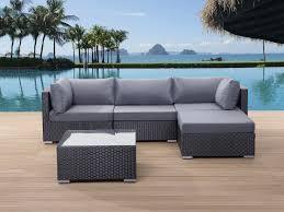 canap d exterieur salon de jardin meubles d extérieur canapé d angle et table basse