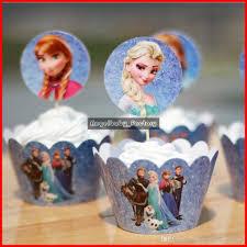 decoration cupcake anniversaire vente en gros frozen party decorations elsa anna princess kristoff