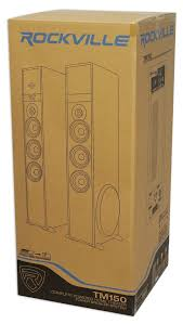 kenwood home theater powered subwoofer rockville tm150b bluetooth home theater tower speaker system 2