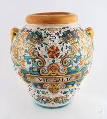 Italian Vase Italian Ceramics Small Vase Deruta Italian Pottery By Fima