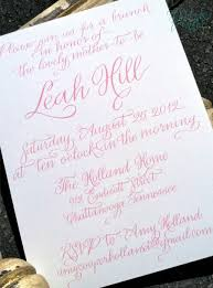 Elegant Baby Shower by Hardink Calligraphy Recent Project Elegant Baby Shower Invitation