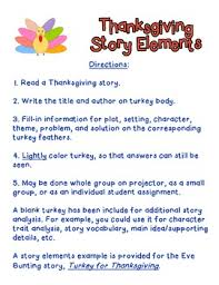 thanksgiving story elements turkey by becky tpt