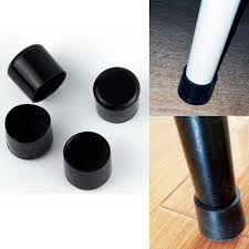 chair leg covers 4pcs pvc plastic protector black 22mm chair leg caps pads
