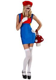 plus red plumber mario costume womens video game costumes