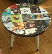end table cover ideas decoupaged guitar world trunk album cover coffee table home