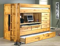 Bunk Bed With Desk And Trundle Bunk Bed With Trundle And Desk Bunk Beds With Desk Wooden Bunk