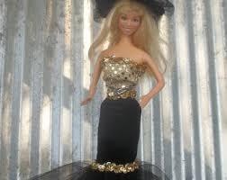 Black Gold Halloween Costumes Barbie Costume Etsy