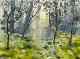 watercolor dream forest 20x speed painting demo youtube