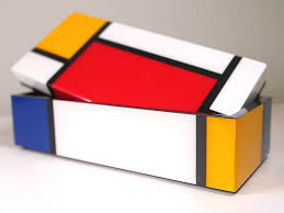 Yellow Decorative Box Mondrian Pencil Box Composition With Red Yellow And Blue 1930