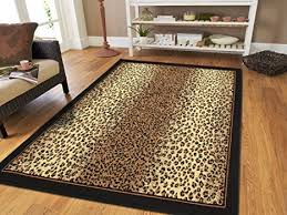 Leopard Runner Rug Brown Checkered Cheetah Rug Animal 2x8 Runner Rug