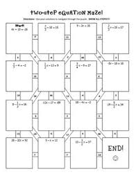 two step equations notes u0026 maze activity by all things algebra tpt