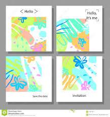 imagenes artisticas ejemplos sistema del ejemplo del vector de tarjetas universales coloridas