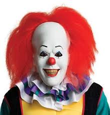 Latex Halloween Costume Halloween Movie Pennywise Clown Latex Deluxe Mask Costume