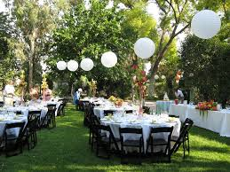 excellent photo of garden wedding reception with decorating home