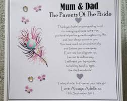 card for on wedding day parents wedding card etsy