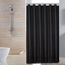 Black Bathroom Curtains Ruffled Black Fabric Shower Curtain Home Kitchen