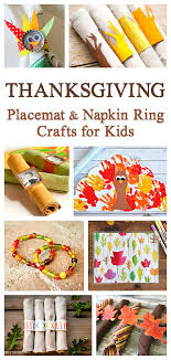 thanksgiving crafts for napkin rings and placemats can