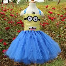 cute tulle party dress cartoon princess minion cosplay tutu