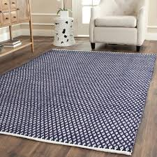 Flat Weave Cotton Area Rugs Safavieh Handmade Boston Flatweave Navy Blue Cotton Rug 4 X 6