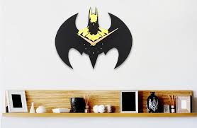 Batman Home Decor Aliexpress Com Buy 2017 Fashion Diy Wall Clock Batman 3d Wall