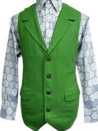 Joker Costume Halloween Amazon Joker Green Wool Vest Costume Halloween Tdk Clothing