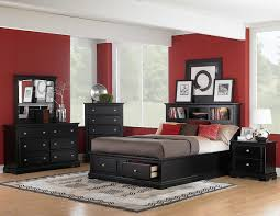Bed Sets Black Homelegance Platform Storage Bookcase Bedroom Set Black