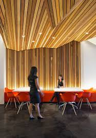 Wood Wall Treatments Autodesk Offices Wood Slat Ceiling And Wall Treatment Break