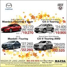 mazda specials mazda of lake lanier is a gainesville mazda dealer and a new car