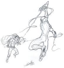 spiderman superman nfoke deviantart