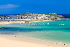 st ives beach wallpaper wall mural wallsauce save your design for later