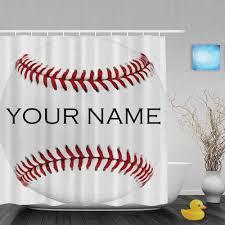 Boston Red Sox Shower Curtain Baseball Shower Curtain Curtains Wall Decor