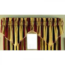 large country red sets valance curtains panels shade and swag for
