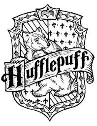 hufflepuff coloring crest coloring