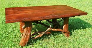 Trunk Like Coffee Table by Hand Crafted Rustic Coffee Table With Mountain Laurel Base Log