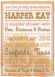 Couple S Shower Beer Babies And Barbecue A Couples Baby Shower Invitation