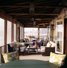 enclosed porch ideas porch rustic with ceiling fan fireplace four