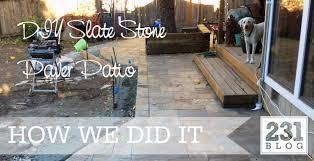 231 designs how do you eat an elephant diy slate stone paver patio