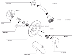 kitchen faucet parts names moen t2803bn parts list and diagram ereplacementparts com