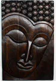 wall art ideas serene face buddha wooden wall art laminate brown