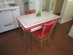 1950s chrome kitchen table and chairs retro 1950 s vintage chrome kitchen table set 4 red vinyl chairs