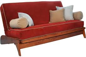 armless wallhugger futon frame dillon cherry wall hugging sofa