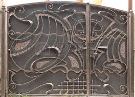 open iron gate stock photo picture and royalty free image image