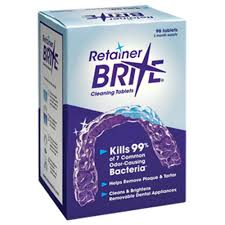Brite View Window Cleaning Retainer Brite Cleaning Tablets 96 Tablets 3 Months Supply