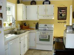 kitchen elegant white painted kitchen cabinets ideas yellow