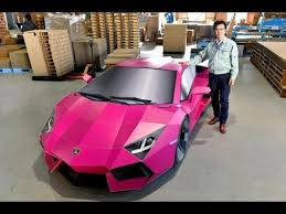 who made the lamborghini aventador size large model made with cardboard lamborghini